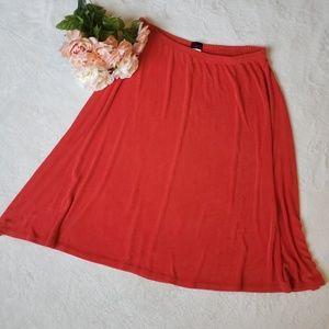 Ashli culture acetate mid skirt J